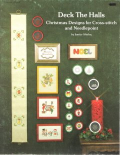 DECK THE HALLS.. Christmas Cross Stitch Leaflet...Partridge in a Pear Tree+