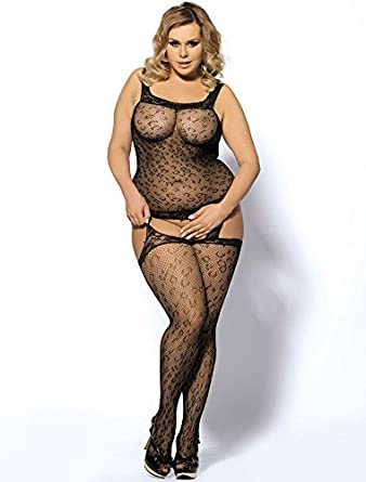 b93b013daa5 SEXY EMPORIUM - Women s Sexy Leopard Print Bodystocking Dress With  Suspender Stockings - Sizes 12