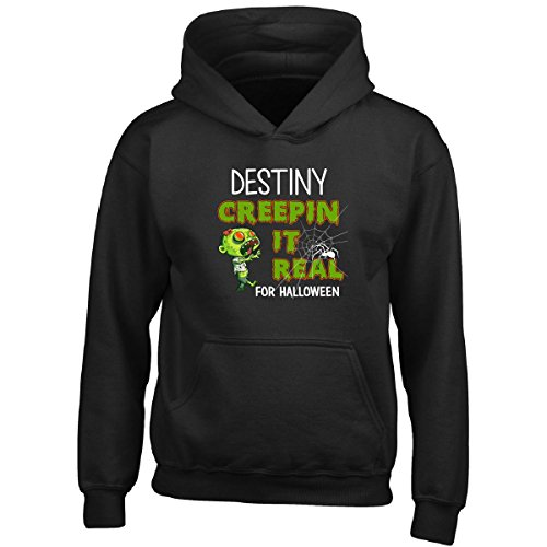 [Destiny Creepin It Real Funny Halloween Costume Gift - Boy Boys Hoodie] (Destiny's Child Costumes)