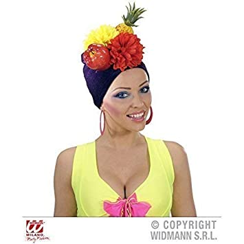 Brasileña Sombrero   Gorra   sombrero   Accesorios de disfraz Miranda con  Frutas  Amazon.es  Juguetes y juegos e824a1863ea