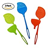 RB Home Solutions Fly Swatter with Dust Pan Manual Bug Zapper Colorful 3 pack (Green, Blue, Orange)