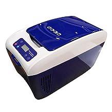 SOAC CR - 082 Car Refrigerator,12V Electric Mini Fridge Cooler and Warmer 8L Capacity,Blue