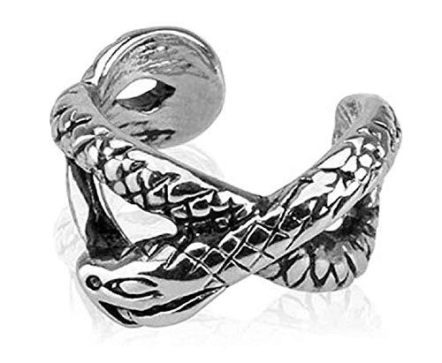 Covet Jewelry Snake Rhodium...