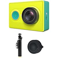 Sports Camera-Green Waterproof Upgraded Version Camera With Lens cap and Monopod