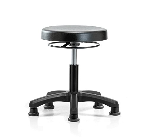 (PERCH Polyurethane Work Stool Heavy Duty with Stationary Caps, Desk Height)