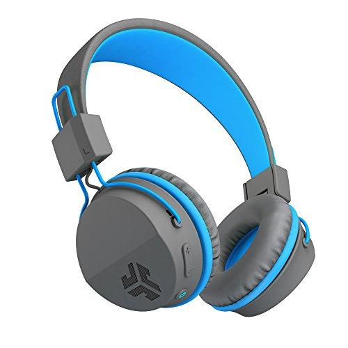 JLab Audio Neon Bluetooth Folding On-Ear Headphones | Wireless Headphones | 13 Hour Bluetooth Playtime | Noise Isolation | 40mm Neodymium Drivers | C3 Sound (Crystal Clear Clarity) | Graphite/Blue