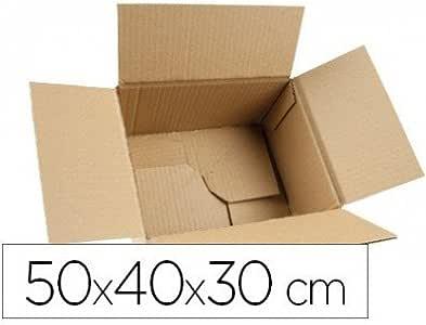 Q-Connect - Caja Para Embalar Fondo Automático Medidas 500X400X300 Mm Espesor Cartón 3 Mm: Amazon.es: Oficina y papelería