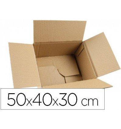 Q-Connect Caja Para Embalar Fondo Automatico Medidas 500X400X300 Mm Espesor Cartón 3 Mm