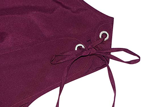 Peasant Lace Anna Dress Trim Inspired Boho Sleeve Burgundy Dress Renaissance Kaci Cap Maiden Over Effwx18Sq