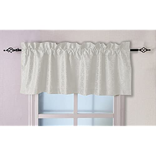 Valea Home Diamond Patterned Valances for Windows Rod Pocket Jacquard Curtain Valance for living room 56-inch by 18-inch.White  sc 1 st  Amazon.com & Window Valance Box: Amazon.com