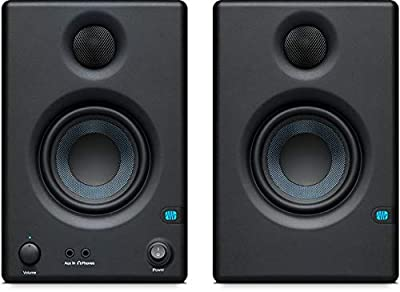 Presonus Eris-E3.5 Studio Monitors (Pair) with Full-Sized Headphones, Knox Gear Isolation Pads and Breakout Cable by Presonus