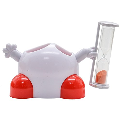 Rugjut Kid Toothbrush Holder with Hourglass Timer with 2 Holes