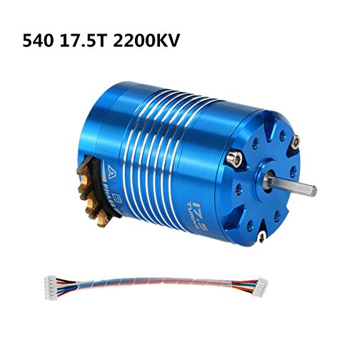 540 17.5T 2200KV Sensored Brushless Motor for 1/10 RC Car Auto Truck Running Off-Road Vehicle by RCRunning