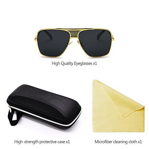 complète des Mode en Rétro Nouveaux de de de de Soleil Hommes cadre air cadre UV400 Style Lunettes en Métal ZEVONDA Plein 02 Protection qH5dw4xq