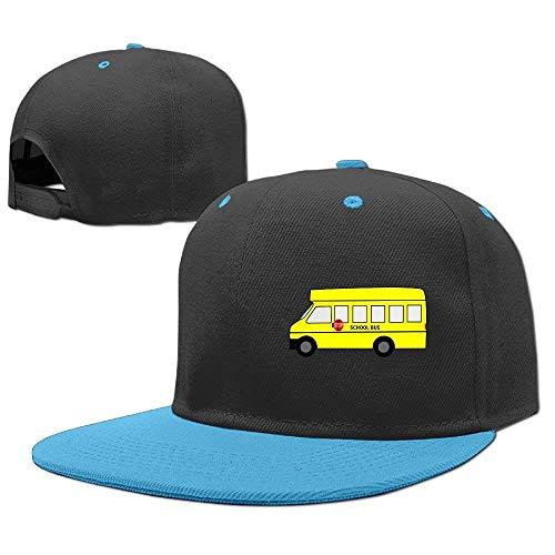 RGFJJE Gorras béisbol Baseball Caps Hip Hop Hats SCHL Bus Yellow Boy-Girl
