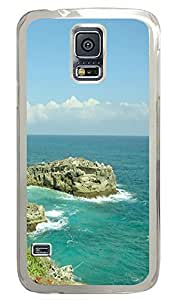 protective Samsung Galaxy S5 covers Water Rocks PC Transparent Custom Samsung Galaxy S5 Case Cover
