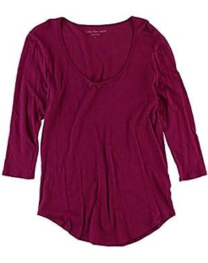 Calvin Klein Womens Solid Basic T-Shirt