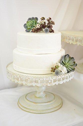 Richland Vintage Metal Cake Stand White 16
