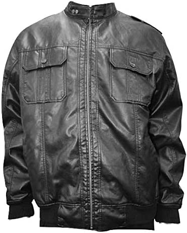 Big and Tall PVC Racer Jacket to Size 8X