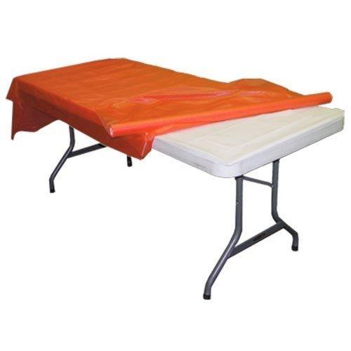 Orange plastic table roll]()