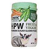 Exotic Nutrition Sugar Glider HPW Diet 12 oz. Jar - High Protein Healthy Natural No Mess Food for Sugar Gliders - High Protein Wombaroo Diet