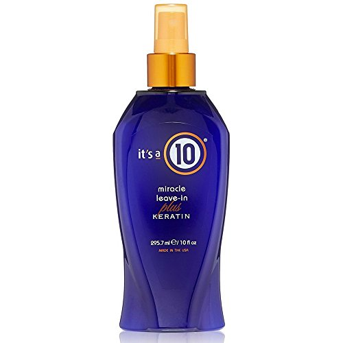 it's a 10 Miracle Leave-In plus Keratin Spray 10 oz (Pack of 4) by It's a 10