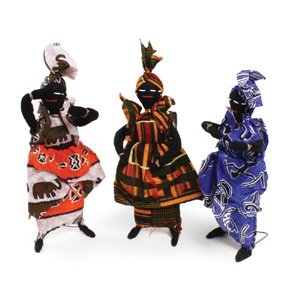 African Doll Deluxe on Stand