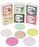 LUXEHOME Assorted Series 100% Nature Oil Guest Soap Gift Set, 2.5oz/ps, Pack of 6 (Fruit Series)