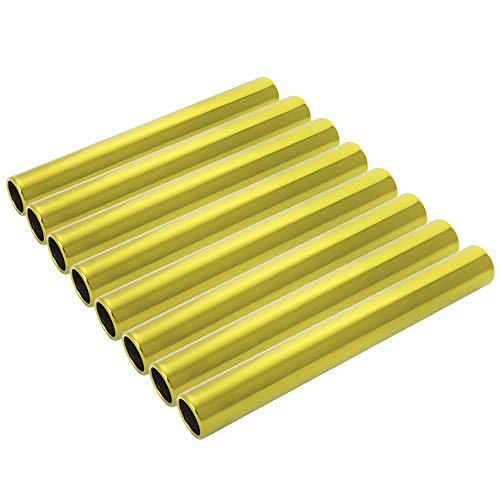 GOGO Track & Field Running Relay Baton-Aluminium Golden-Pack of 8