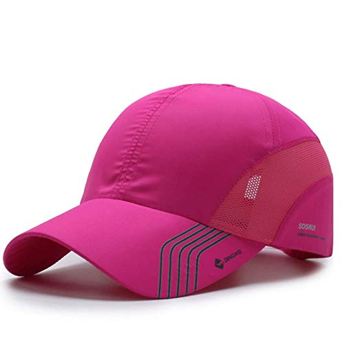 Clape Baseball Cap Outdoor Sports Running UV Protection Performance Hat Ultra Thin Lightweight Waterproof Quick Dry Portable Mesh Hat Pink