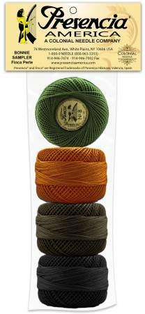 Presencia Pearl Cotton Thread Sampler - Sashiko, Embroidery & Quilting - Bonnie Sullivan's Lucky Dog - Size 8-4-77 Yard Balls