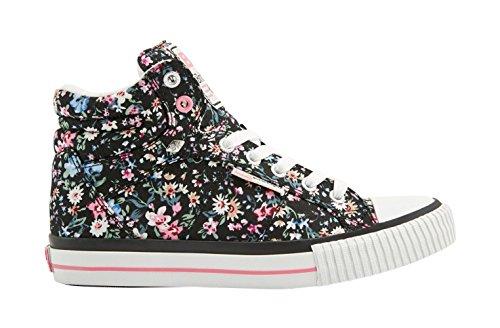 de Knights Zapatillas Pink British Sneakers Black DEE Deporte Mujeres Soft Flower Calzado 7AWxWnB4g