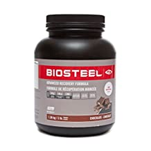 Biosteel Advanced Recovery Formula Post Workout Nutrition Increases Build Muscle Glycogen Re-Synthesis Certified Banned Substance Free Promotes Lean Muscle Protein Synthesis Gluten Free Chocolate 3lbs