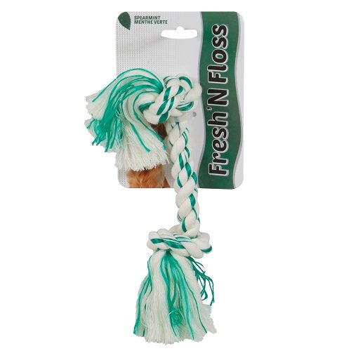 Aspen Booda Corporation Dbx52301 Fresh And Floss 2 Knot Spearmint Toy For Pets  Small