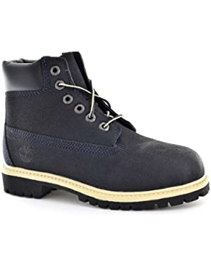 Boys Boots 98774 6In Prem Navy Scuffproof Leather