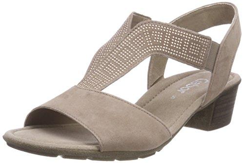 Caviglia Donna Multicolore Sandali Dark alla con Casual Cinturino nude Gabor aAUXwRYqf