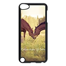 iPod 5 Case,iPod Touch 5th Gen Case,Case for iPod Touch 5th Gen,Horse Case for iPod Touch 5,Cover Case Protective Back Shell Plastic Case for iPod Touch 5,5th Generation