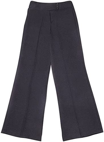 11//12 Years, Black Schoolwear Girl School WEAR Girls School Uniform Girl 3 Button Bootleg Trouser