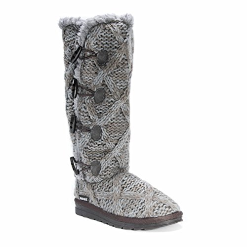 MUK LUKS Women's Felicity Boots Fashion, Grey, 7 Medium US