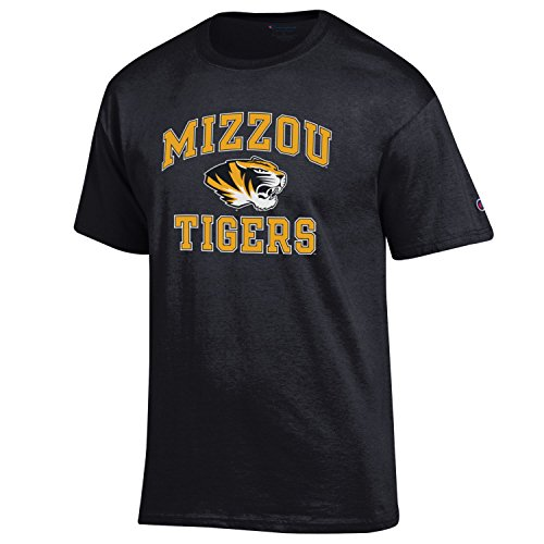 Champion NCAA Men's Shirt Short Sleeve Officially Licensed Team Color Tee, Missouri Tigers, Medium