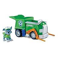 Camión de reciclaje, vehículo y figura de Paw Patrol Rocky