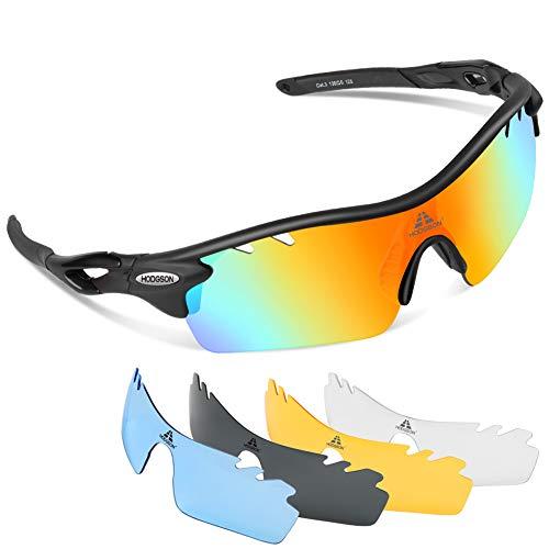 fdd99cad6e 5 · HODGSON Polarized Sports Sunglasses with 5 Interchangeable Lenses for  Men Women Cycling Baseball Running Fishing Driving
