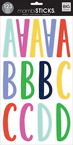 me & my BIG ideas Large Alpha Sticker, Leah Jewel Prisma -