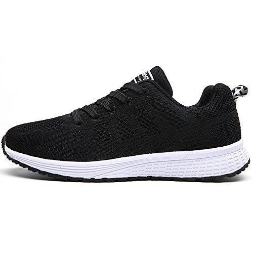 Running Chaussures double Femme Bigtree up De Plat Sneakers Sportif a08c Haut Lace Sport Noir Casual Flyknit Plus Respirant Hommes Léger t5trqnT1xw