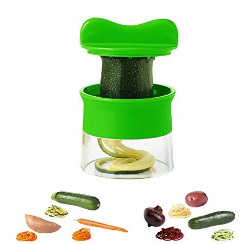 Duomishu Hand Spiralschneider Gemüseschäler Spirale Küchen Schneider Cutter für Gemüse und Obst