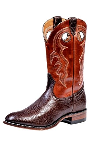 Bottes américaines - bottes western super ropers BO-3047-45-EEE (pied fort) - Homme - Marron