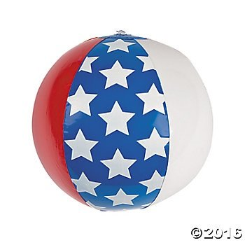 American Flag Beach Ball - 3
