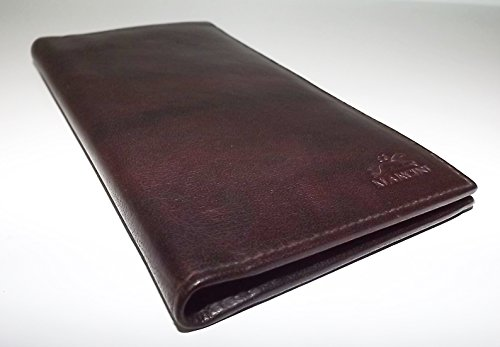 RFID Dark Pocket Men's Brown Wallet Secretary Blocking Breast Leather Mancini EgUTq8EB