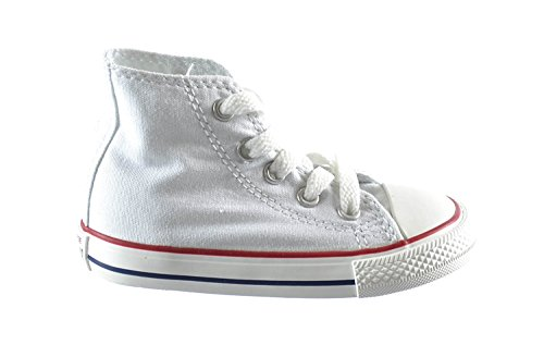 Converse Chuck Taylor All Star High top Infants Casual Shoes Optical White 7j253 (6 M US) (Star Girls All White For Shoes)