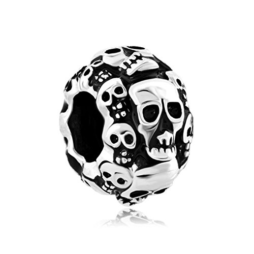 CharmSStory Skull Halloween Skeleton Spacer Charm Beads Charmss For Bracelets